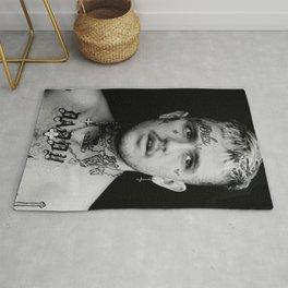 Lil Peep Black and White Poster Print First Posthumous Studio Rap Music Album Art Wall Decor, R.I.P. Legend Music For Rap Hip Hop Fans Rug
