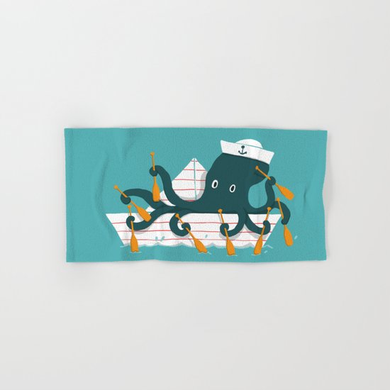Sailor Octopus Hand & Bath Towel
