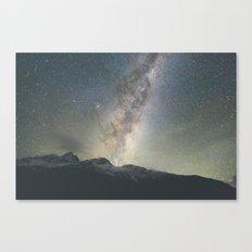 Stars over Mount Aspiring Canvas Print