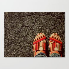 Shoes on Cement Canvas Print