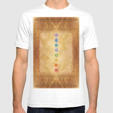 Chakras Kali | Beyond the time  Mens Fitted Tee White MEDIUM