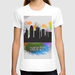 Kansas city skyline silhouette T-shirt