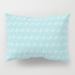 Mint Green Wave Pattern ll Pillow Sham