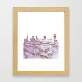 Buffalo Skyline New York Framed Art Print