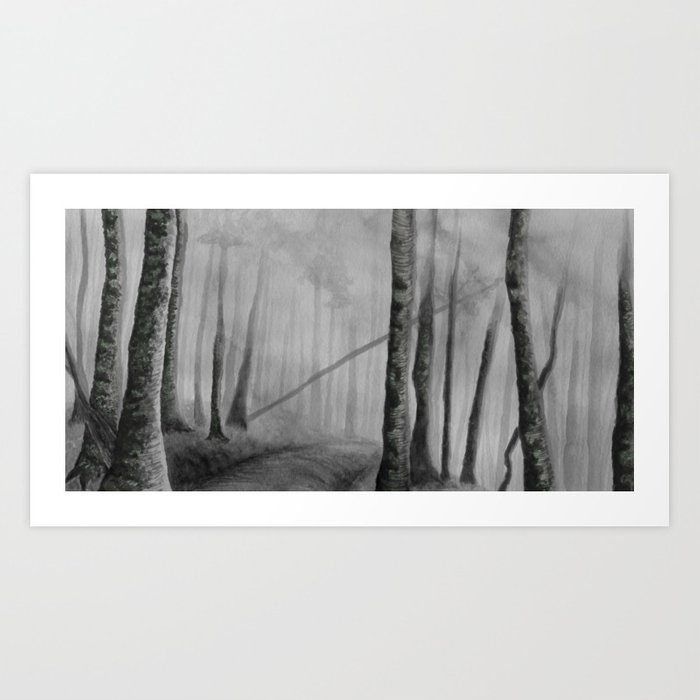 Misty Forest Art Print
