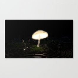 Glowing Mushroom in Crystal Cave Canvas Print