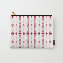 Pillar - Pearl and Maude | Magenta White Golden Color Column Stripes (small) Carry-All Pouch