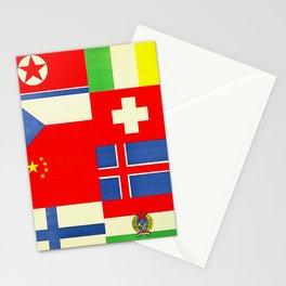 Vintage World Flag Montage Stationery Cards