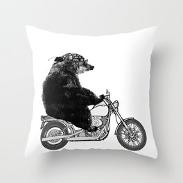 Harley Bear Throw Pillow