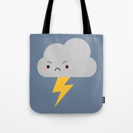 Kawaii Thunder & Lightning Cloud Tote Bag