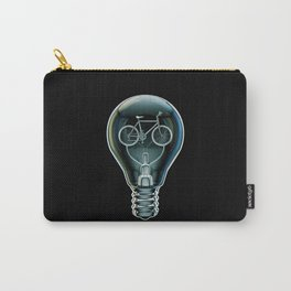 Dark Bicycle Bulb Carry-All Pouch