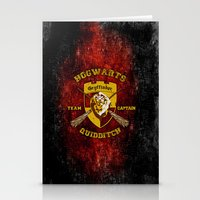 quidditch Stationery Cards featuring Gryffindor lion quidditch team captain iPhone 4 4s 5 5c, ipod, ipad, pillow case, tshirt and mugs by Three Second