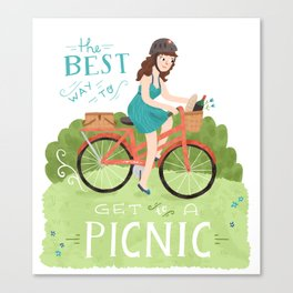 Bike to a Picnic Canvas Print