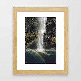 Feel the Water Fall Framed Art Print