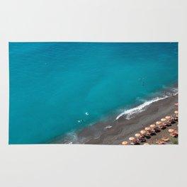 Positano Beach Umbrellas Rug