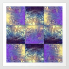 Abstract Silver Stiched canvas Art Print