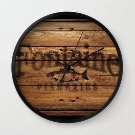 Fontaine Fisheries Crate Wall Clock