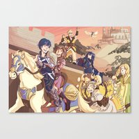 fire emblem awakening Canvas Prints featuring Fire Emblem- Parade by Frauleinandry
