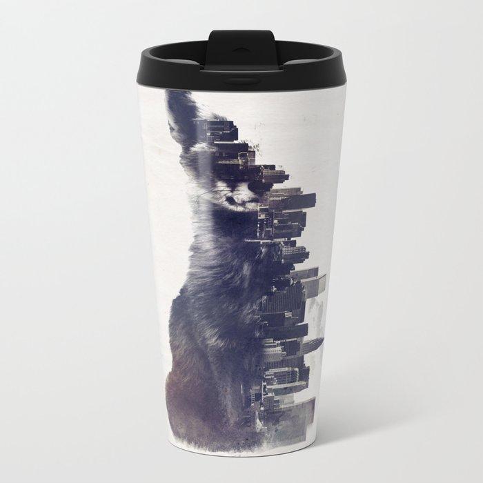 Fox from the City Metal Travel Mug
