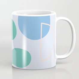 I don't know - on blue background Coffee Mug