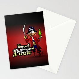 Support your local Pirate Stationery Cards