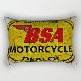 Vintage Painted  Motorcycle Sign Rectangular Pillow