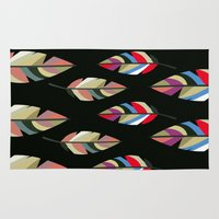 revolution Area & Throw Rugs featuring FEATHER REVOLUTION by d.ts