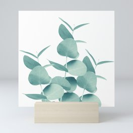 Eucalyptus Leaves Green White #1 #foliage #decor #art #society6 Mini Art Print