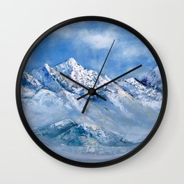 Himalayas. mountain landscape Wall Clock