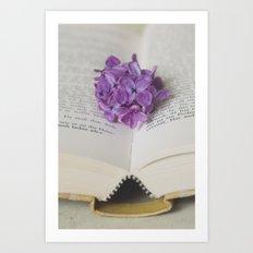 Lilac Bookmark II Art Print