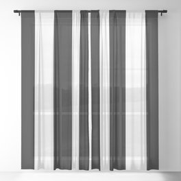 Black and white stripe Sheer Curtain