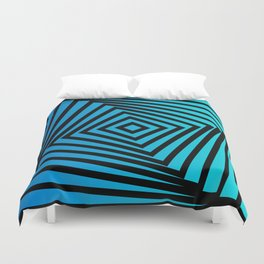 Squares twirling from the Center. Optical Illusion of Perspective bu Squares twirling Duvet Cover