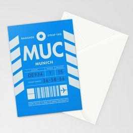 Luggage Tag D - MUC Munich Germany Stationery Cards