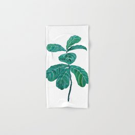 fiddle leaf fig watercolor Hand & Bath Towel