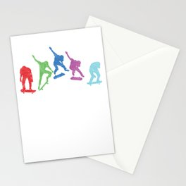 Colorful Skaters Skateboard Skateboarding Gift Stationery Cards