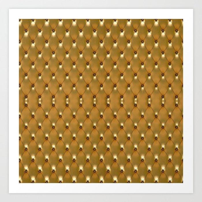 Luxury Golden Leather vector new design Art Print