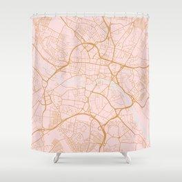 Leeds map, UK Shower Curtain