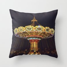 Night Spin Throw Pillow