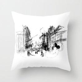 Alchemy Sketch - City Throw Pillow