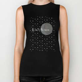 Fly me to the moon Biker Tank