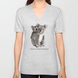 Save the Koalas Unisex V-Neck