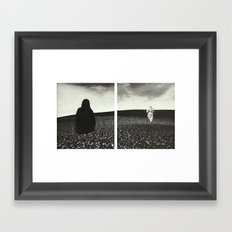 Ghost Diptych Framed Art Print