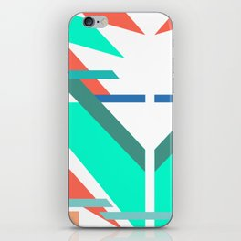 Neon Grapefruit and Electric Mint Shapes Doubled iPhone Skin