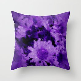 Trendy purple collection 1 Throw Pillow