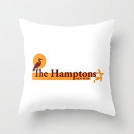 The Hamptons - Long Island. Throw Pillow