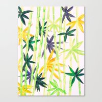 bamboo Canvas Prints featuring Bamboo by Federico Faggion