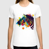 zebra T-shirts featuring ZEBRA by mark ashkenazi