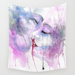 """Watercolor Painting of Picture """"Passion"""" Wall Tapestry"""