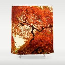 VIBRANT ORANGE JAPANESE FALL MAPLE TREE Shower Curtain