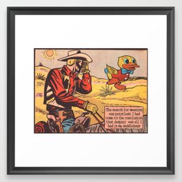Cowboy Despair Framed Art Print